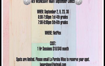 AEV Wednesday Night, September Clinics 2020
