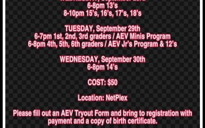 AEV TRYOUTS 2020/2021